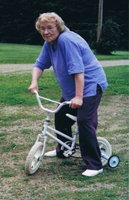 2002 - 06 - 02 Nana on bike crop