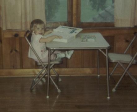 1969 - 08 - 00Julie at table - Summer 1969 crop
