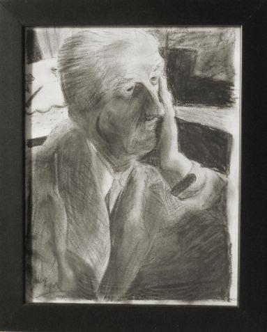 William Faulkner drawing - black and white