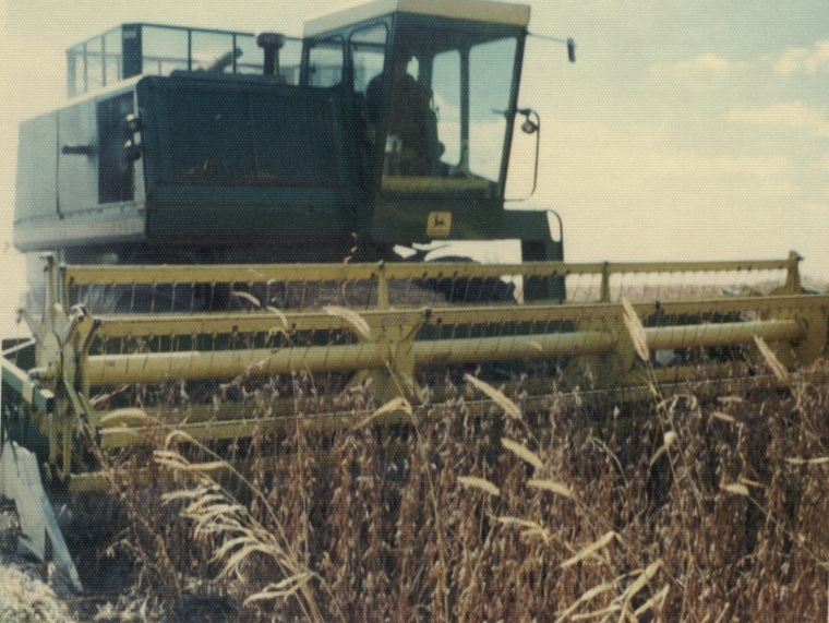 1972 - 10 - 00 Danny in combine 2 - Fall 1972