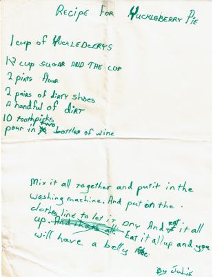 1977 - 00 - 00 Recipe for Yuckleberry Pie edit crop