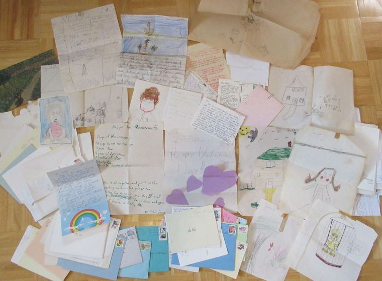 2019 - 08 - 28 Letters and artwork saved by NaNa