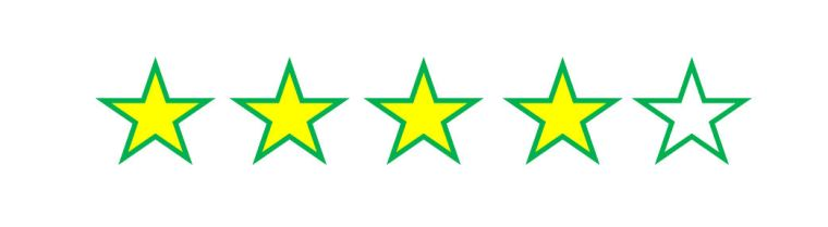 4 four star rating