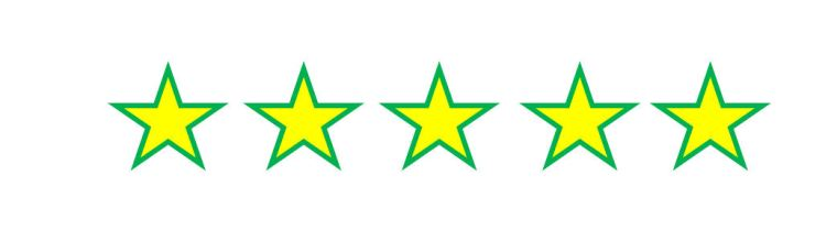 5 five star rating