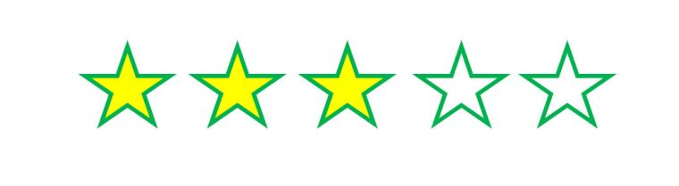 three star rating